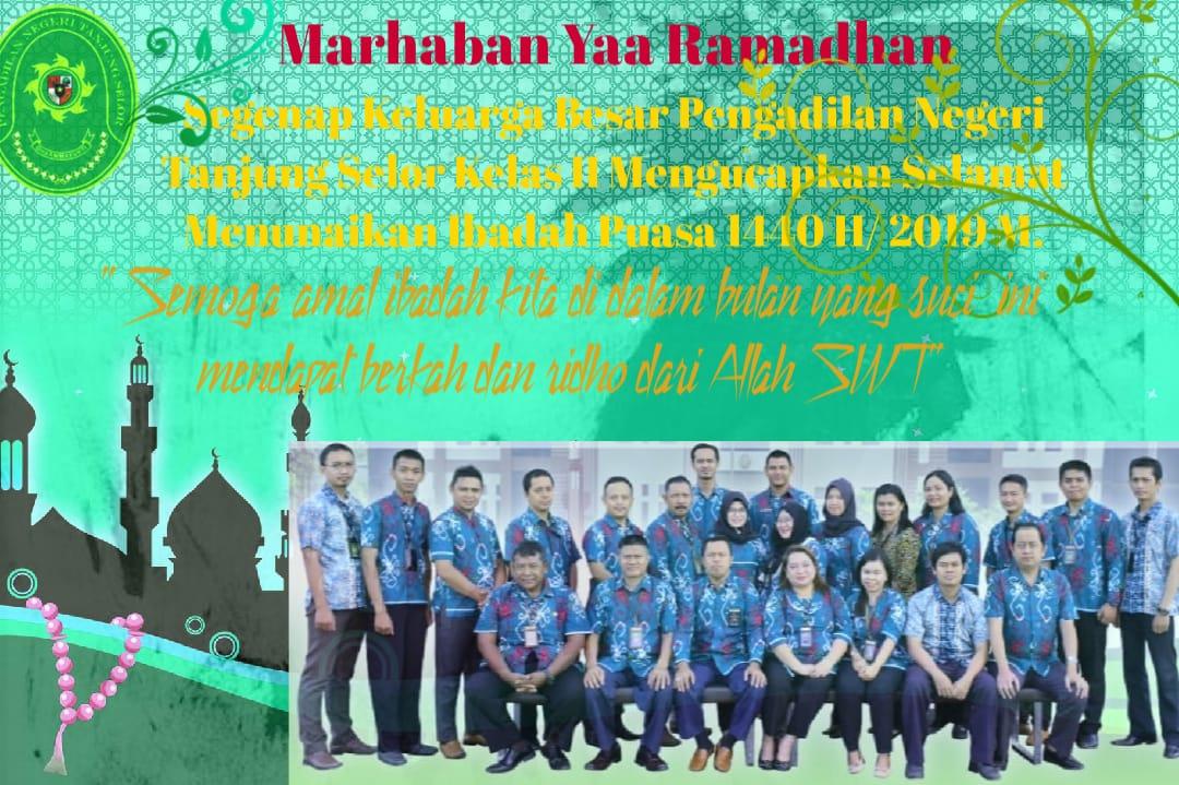 Selamat Ibadah Puasa  Ramadhan 2019/1440 H
