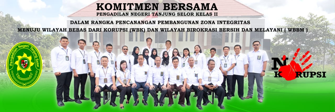 Komitmen Bersama Zona Integritas Pengadilan Negeri Tanjung Selor Kelas II