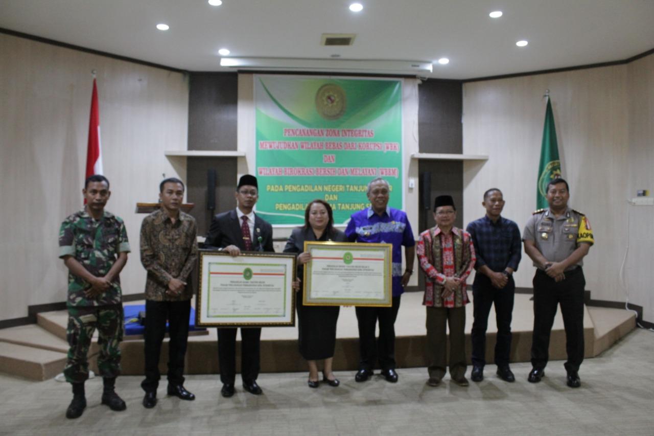 Pencanangan Pembangunan Zona Integritas Pada Pengadilan Negeri Tanjung Selor