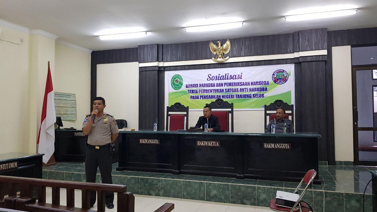Sosialisasi Bahaya Narkoba di PN Tanjung Selor